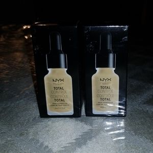2 NYX TOTAL CONTROL DROP FOUNDATION